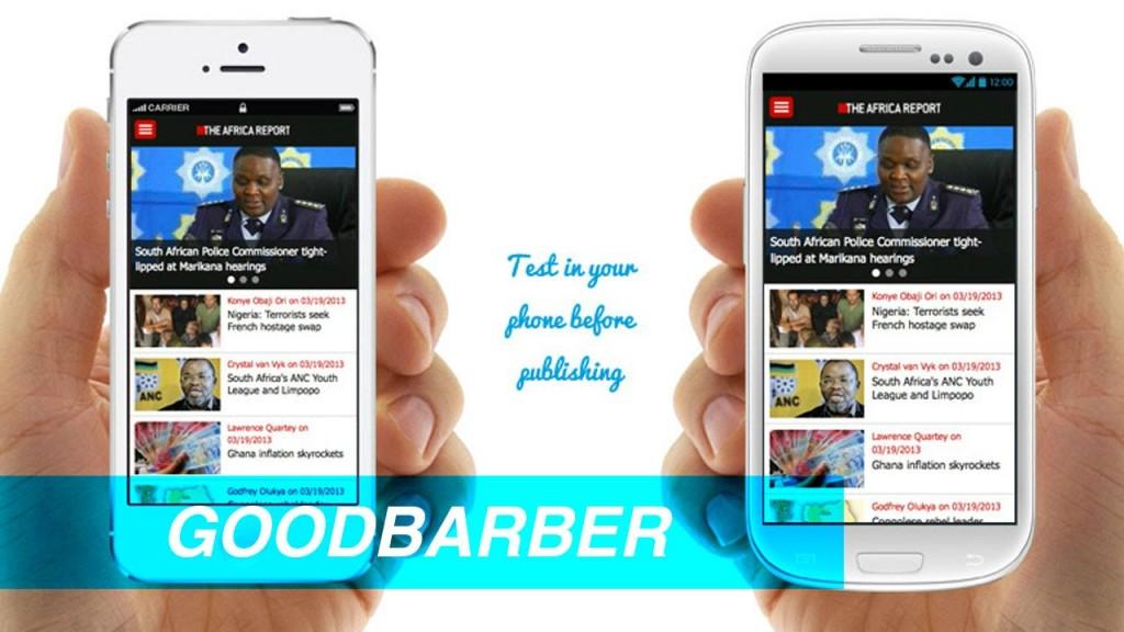 Goodbarber apps