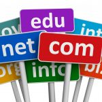 Domain names and internet concept