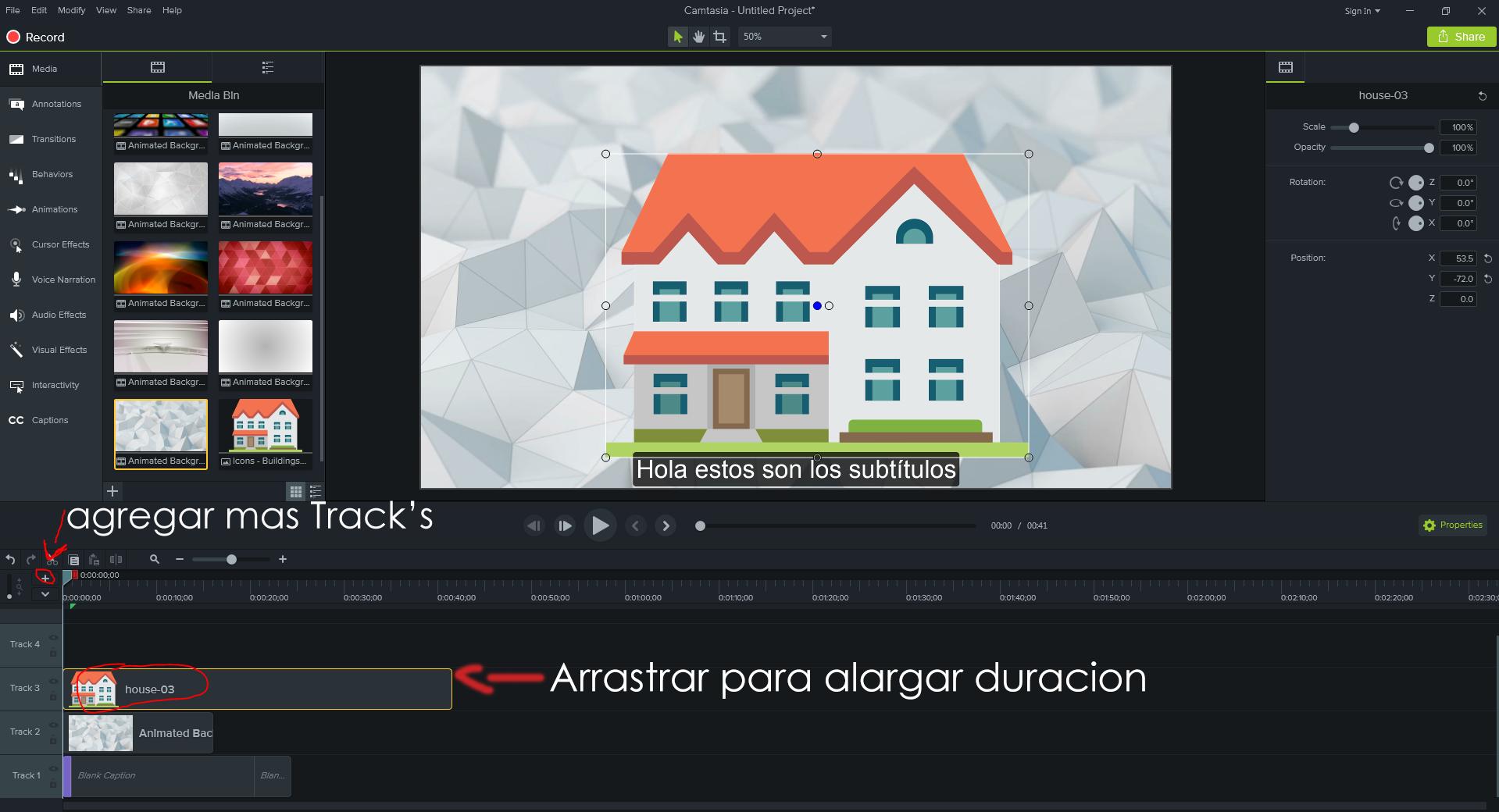 Editor de vídeo Camtasia