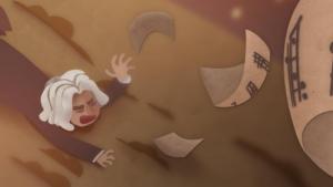 Beethoven pierde sus partituras en la animación de Doodle