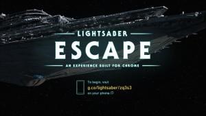 Google  desarrolló Lightsaber Escape con motivo de la nueva película The Force Awakens